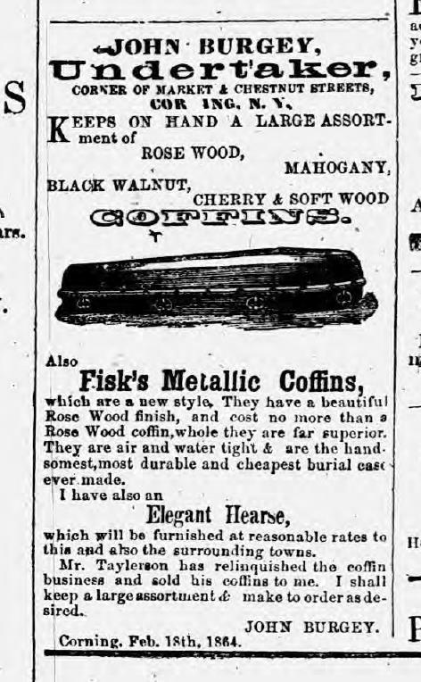 corning historical newspaper william raymond