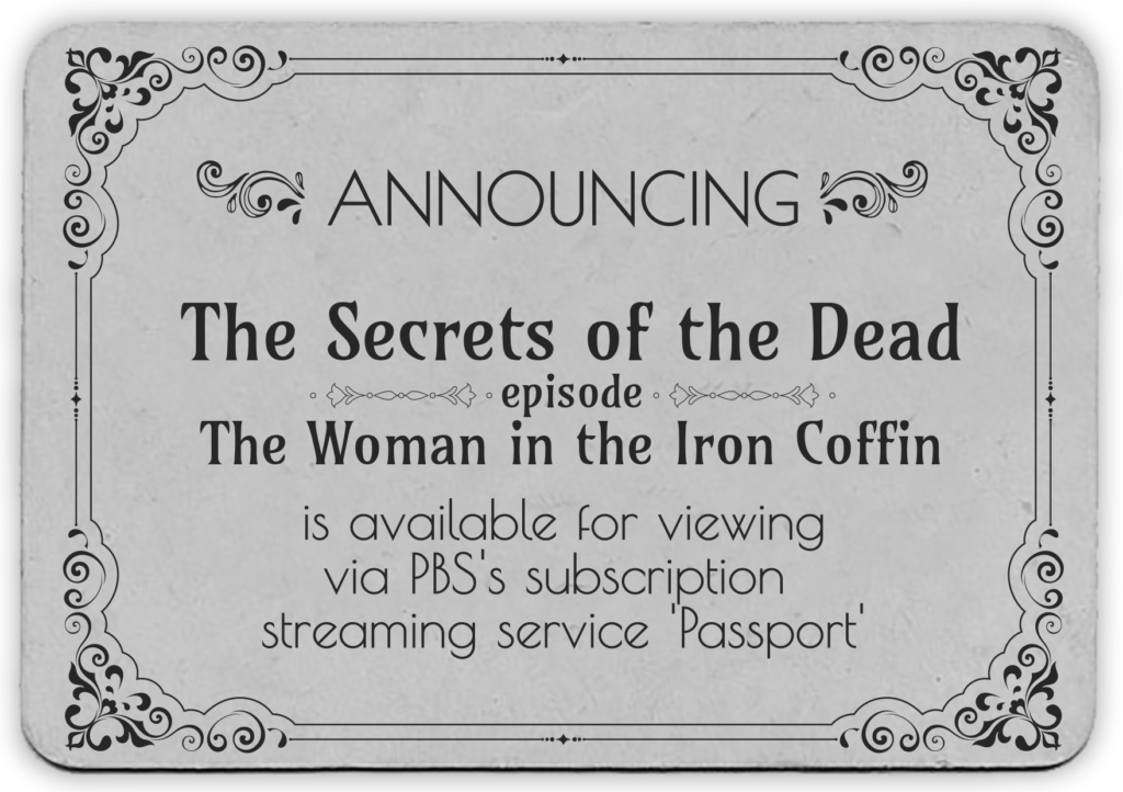 Iron Coffin Mummy on PBS